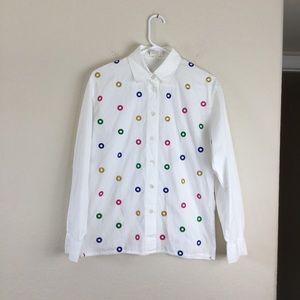 Vintage Escada Button Down Long Sleeve Shirt
